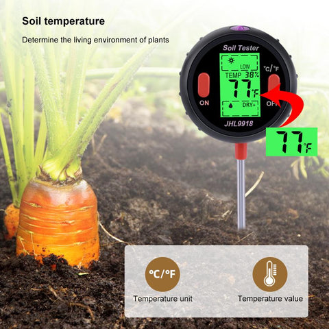 Digital Soil PH Meter Tester, Soil Moisture Meter, Soil Test Kit - 5 in 1 Soil PH Test Kit