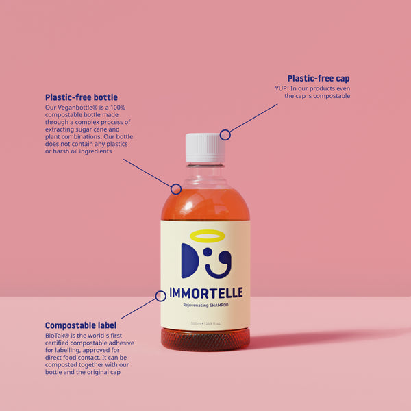 Natural dog shampoo from Doglyness Immortelle Line