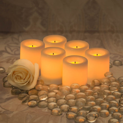 Flameless Wax-Covered LED Votive Candle