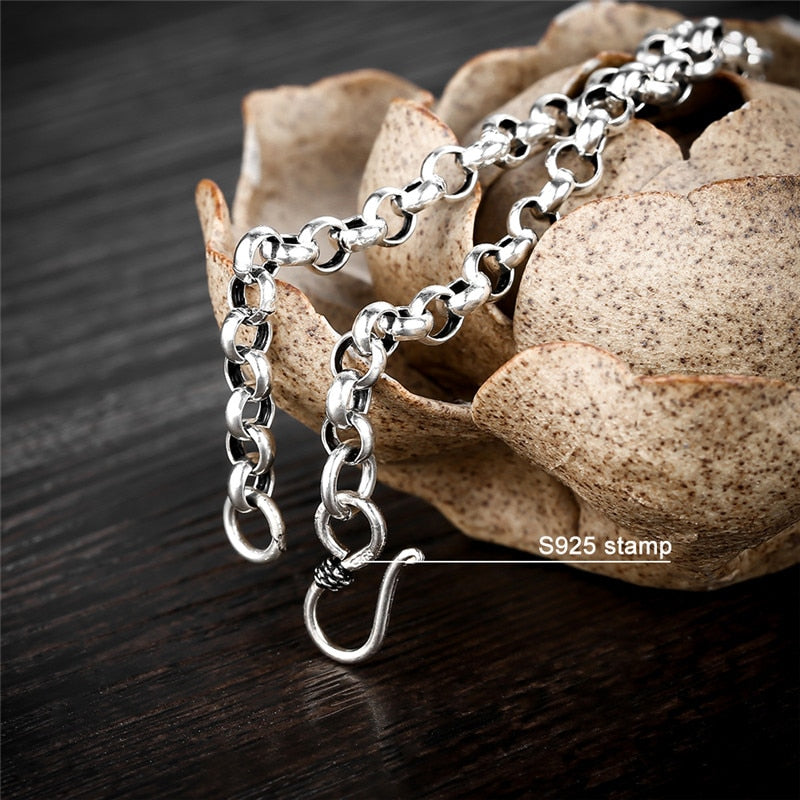 Handmade Male Bracelet 925 Sterling Silver Bracelets for Men