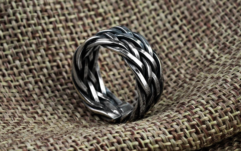 Silver Ring For Women 925 Sterling Silver Ring Weave Shape
