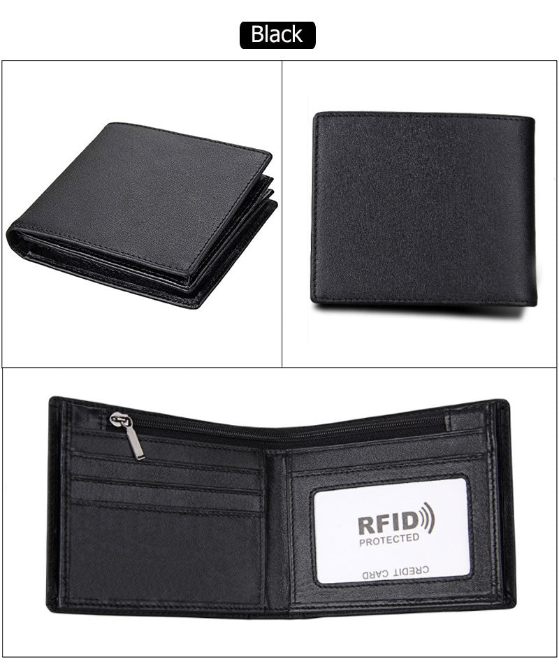RFID Blocking handmade Wallet Vintage Cow Genuine Leather