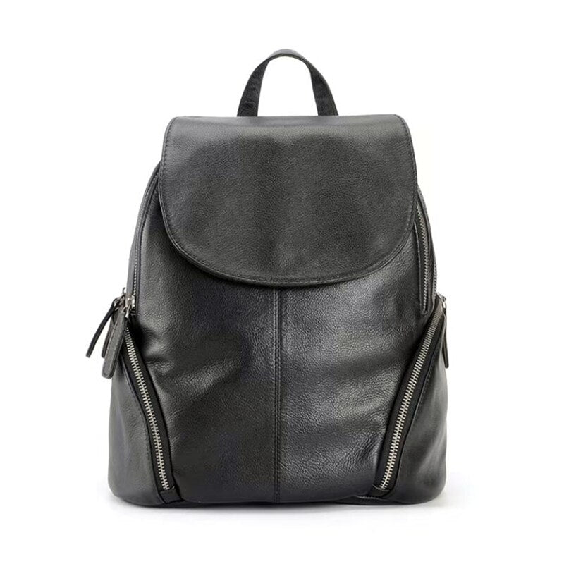 New Backpacks Female Genuine Leather Handmade Top-end 100% Cowhide Lady Backbag