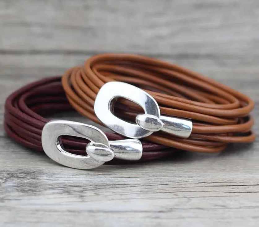 Vintage Leather Handmade Wrap Multilayer Bracelets Bangle