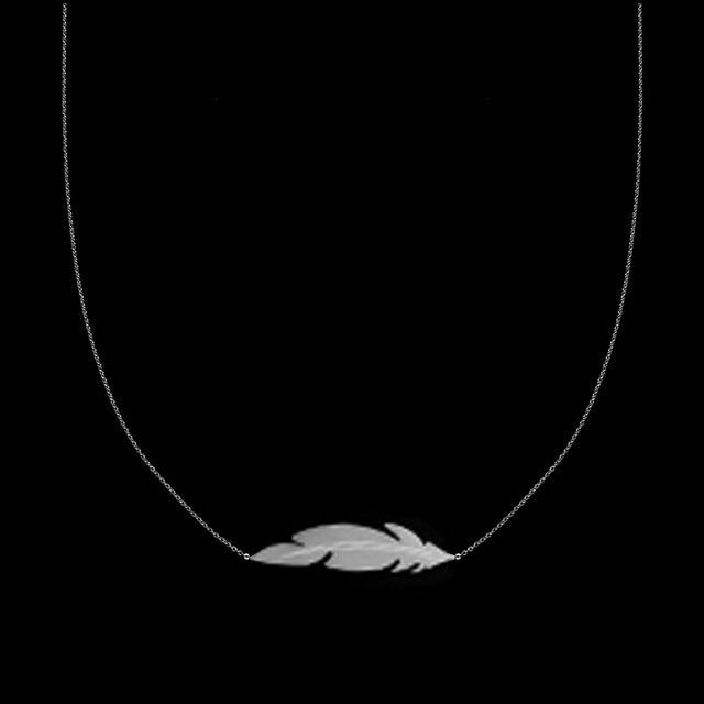 Female feather neckless