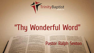 Thy Wonderful Word
