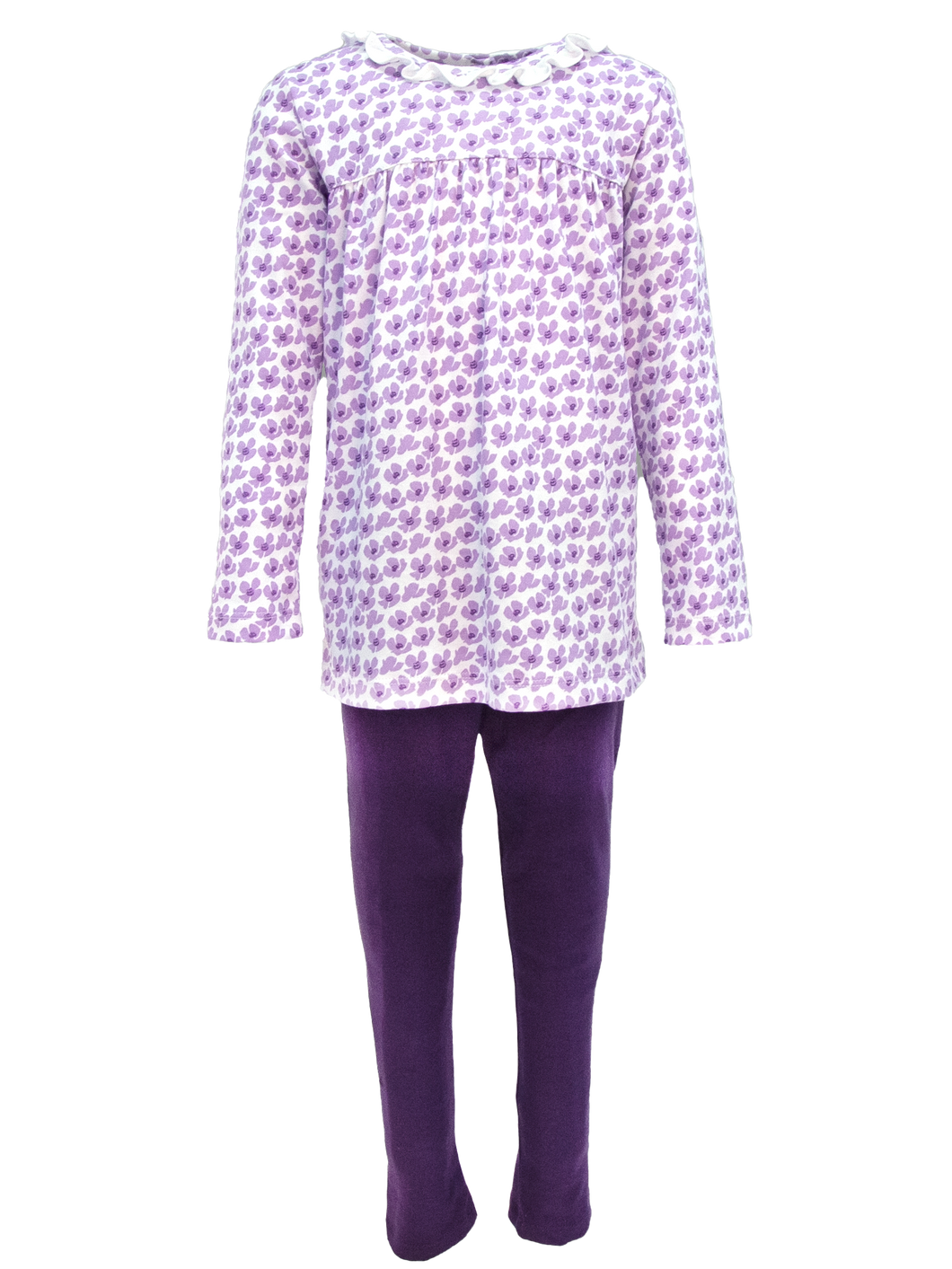 Girls Long Sleeve Tunic Top with leggings Falling Flowers