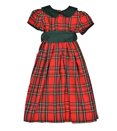 Funtasia Red Plaid Waistline Dress