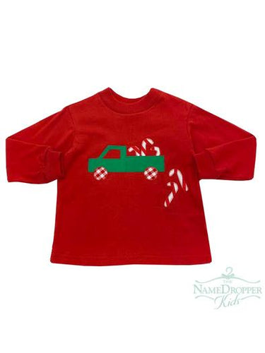 Long Sleeve Truck/Candy Canes Tee