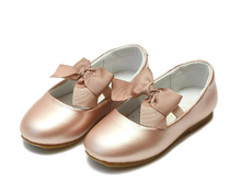 Load image into Gallery viewer, L'Amour Pauline Special Occasion Bow Flat PINK GOLD