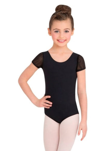 Puff Sleeve Leotard Black 3946C