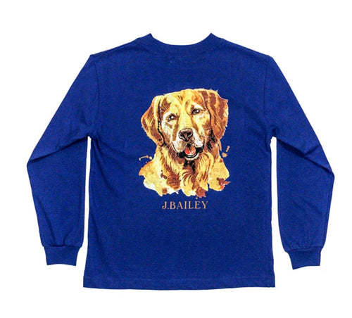 Royal blue golden retriever t-Shirt