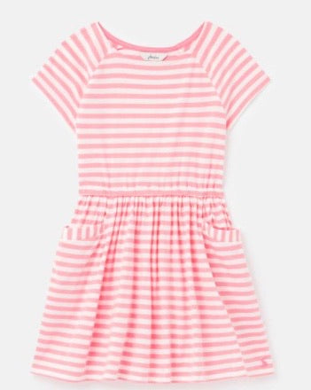 Jersey Dress Pink Stripe