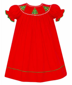 Christmas Tree Short Sleeve Red Corduroy Bishop
