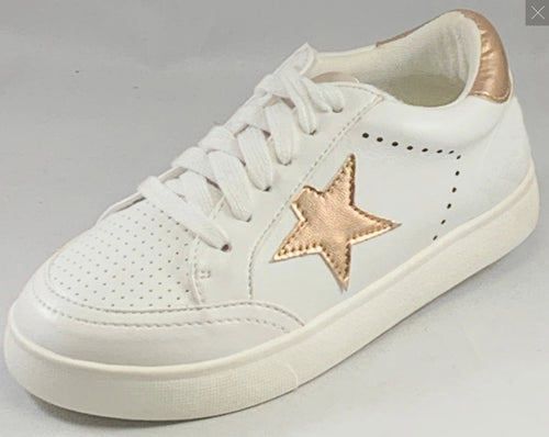Mia Alanis White Sneaker with Rose Star