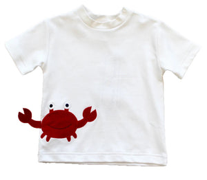 White T-Shirt With Crab