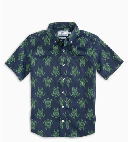 Short Sleeve Intercoastal Turtle Sportshirt Kelly Green