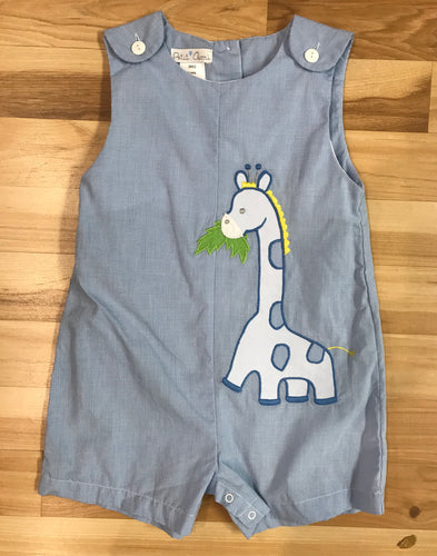 Sunsuit Light Blue Giraffe