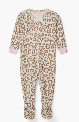 Painted Leopard Organic Cotton Footed Overall
