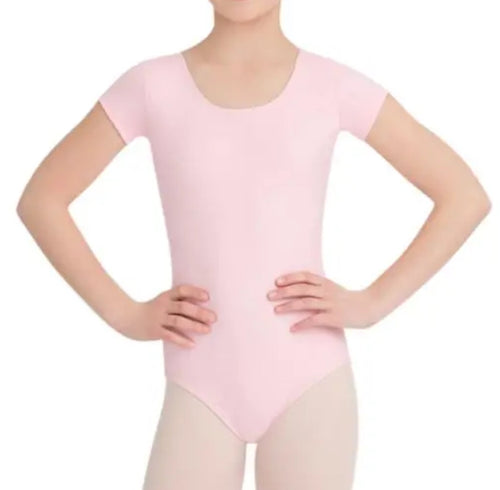 Short Sleeve Leotard Pink TB132C