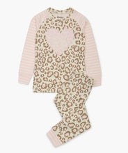 Load image into Gallery viewer, Painted Leopard Organic Cotton Raglan Pajama Set