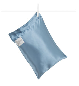 Satin Nap Pillow Blue