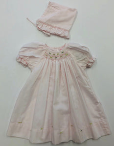 Pink Daydress  With Bonnet