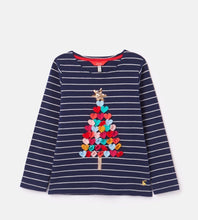 Load image into Gallery viewer, Harbour Luxe Navy Christmas Tree Shirt