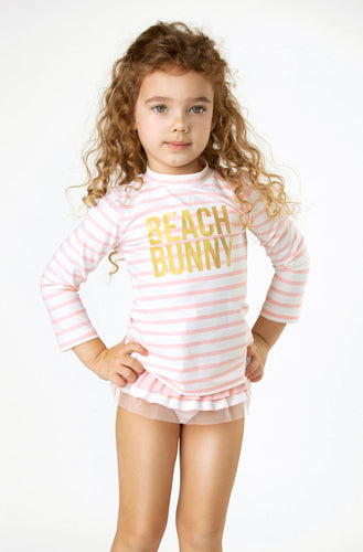 Rash Guard Set Beach Bunny Stripe