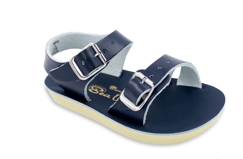 Saltwater Sun-San Sea Wee Navy Baby Sandals