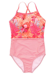 Tropical Punch Classic Crossback Swimsuit