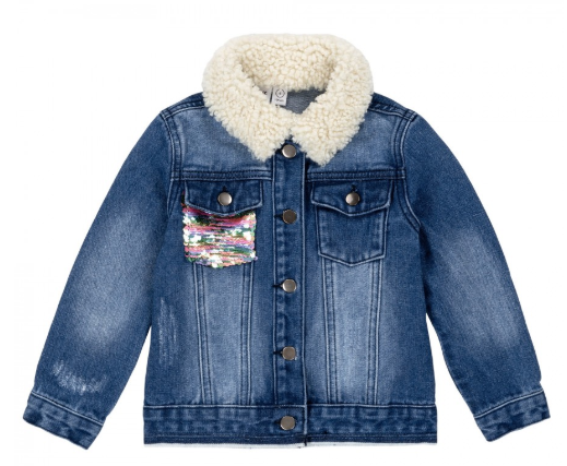 Jean Jacket with Sequins Details