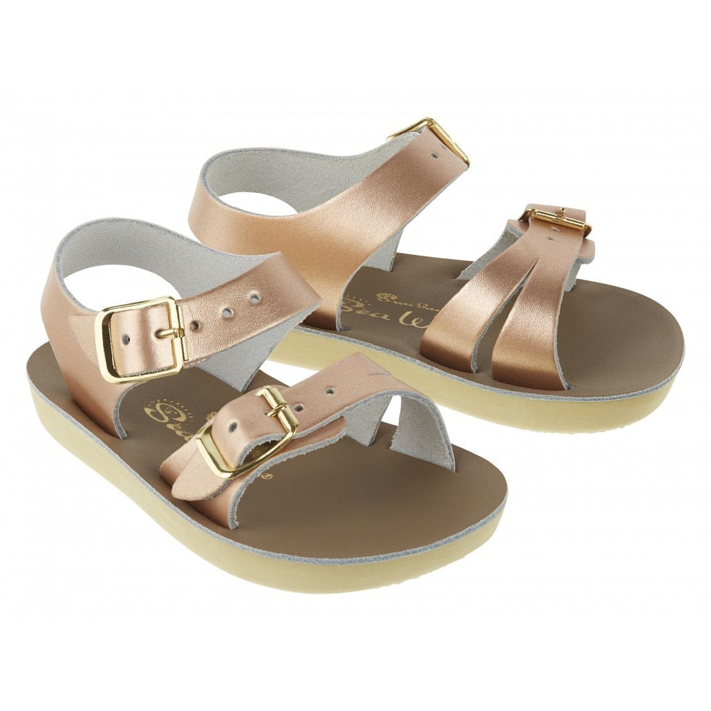 Saltwater Sun-San Sea Wee Rose Gold Baby Sandals
