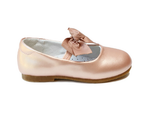 L'Amour Pauline Special Occasion Bow Flat PINK GOLD