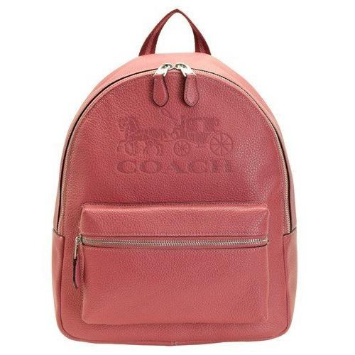 Coach Jes Backpack Ladies Leather Bag [Rouge Pink] - BAGS