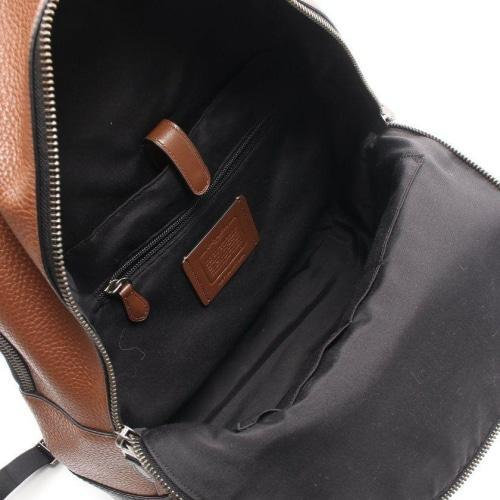 Coach F76890 Unisex Brown/Black Leather Signature Large Canvas Backpack - BAGS