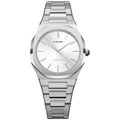 D1 Milano D1-UTBL08 Ladies Cloud Ultra-thin Brushed Silver 34mm Watch