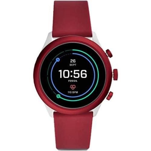 Fossil FTW4033 Red/White Lightweight Touch Screen OS Smart Watch - WATCHES