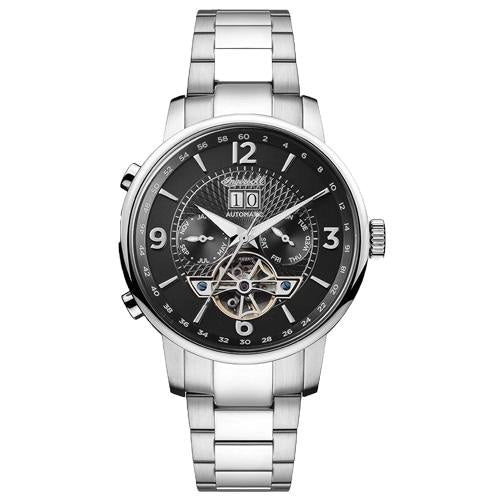 Ingersoll I00704 Men's The Grafton Silver/Black Stainless Automatic Watch - WATCHES