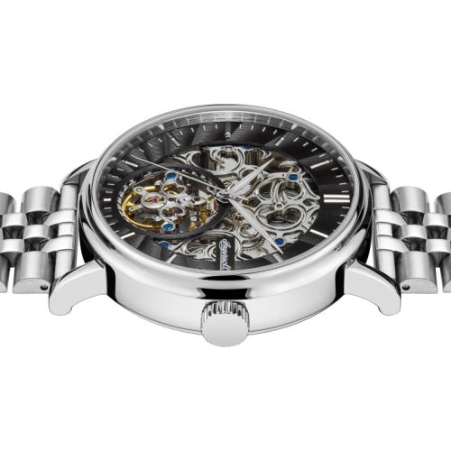 Ingersoll I05804  Men's The Charles Silver/Black Stainless Skeleton Automatic Watch