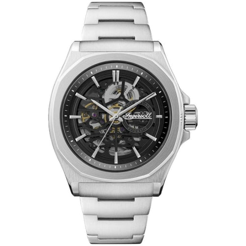 Ingersoll I09303 Men's The Orville Silver/Black Stainless Skeleton Automatic Watch - WATCHES