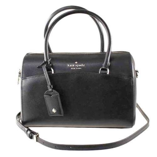 Kate Spade Devyn Crossbody Duffel Bag Ladies Saffiano Leather (Black) - BAGS