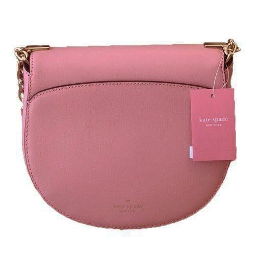 Kate Spade Robyn Medium Chain Saddle Bag Ladies. Leather (Bright Carnation) - BAGS