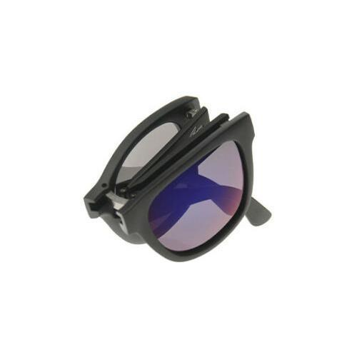 Lacoste L778S 001 Unisex Square Black/Grey Gradient Folding Sunglasses - Sunglasses