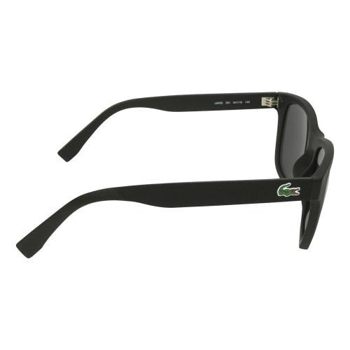 Lacoste L848S 001 Unisex Square Black/Grey Acetate Sunglasses - Sunglasses