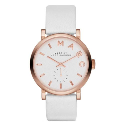 Marc Jacobs MBM1283 Ladies Baker White Leather Rose Gold Watch
