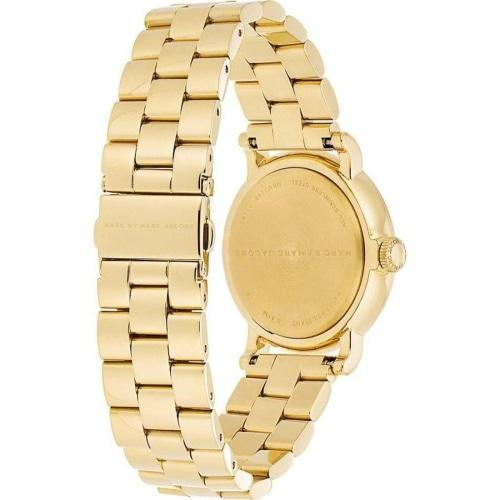 Marc Jacobs MBM3243 Ladies Baker White Dial Gold Stainless Steel Watch
