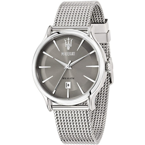 Maserati R8853118002 Men's Epoca Grey Stainless Steel Mesh Watch