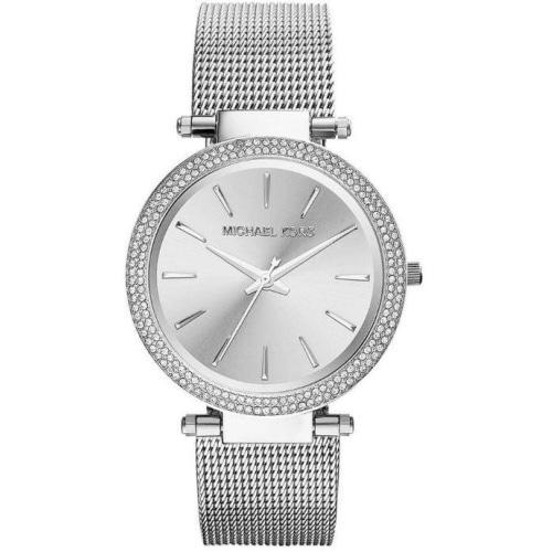 Michael Kors MK3367 Ladies Darci Silver Crystal Mesh Watch