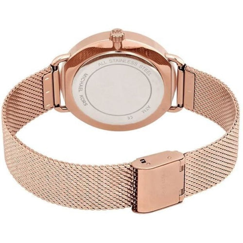 Michael Kors MK3845 Ladies Portia Rose Gold Stainless Steel Mesh Watch